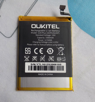 Oukitel U20 Plus Battery 3300mAh New Replacement accessory accumulators For Oukitel U20 Plus Cell Phone oukitel c12plusblack