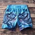 Grande del envío libre ocasional del todo-fósforo hiphop malla playa más tamaño Elástico de La Cintura corta Longitud de La Rodilla pantalones M-5XL