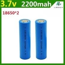 Recarregável para Carro e brinquedos e lanterna 2 Pçs e lote 3.7 V 2200 MAH Capacidade DA Bateria 18650 Li-po