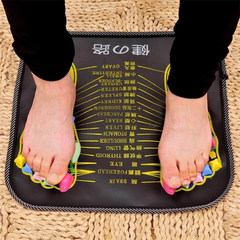 Reflexology Walk Stone Foot Leg Pain Relieve Relief Walk Massager Mat Health Care Acupressure Mat Pad Massageador aptoco chinese reflexology walk stone pain relieve foot leg massager mat health care acupressure