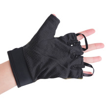 Outdoor Driving Tactical Exercise Half Finger Fitness font b Gloves b font Sports Fingerless Microfiber Mens
