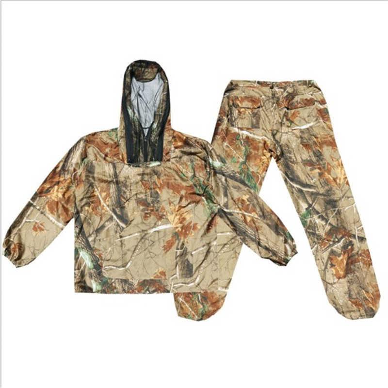 Traspirante Camouflage Bionico Abbigliamento Per La Caccia Caccia Ghillie Tuta Mimetica Caccia Pantaloni Giacca Vestito Da Caccia Hunter Uniforme