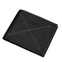Multifunction Soft Wallet With Photo Slot Brief Design PU Leather Wallets For Men Bifold Short Card Holder Men Purse