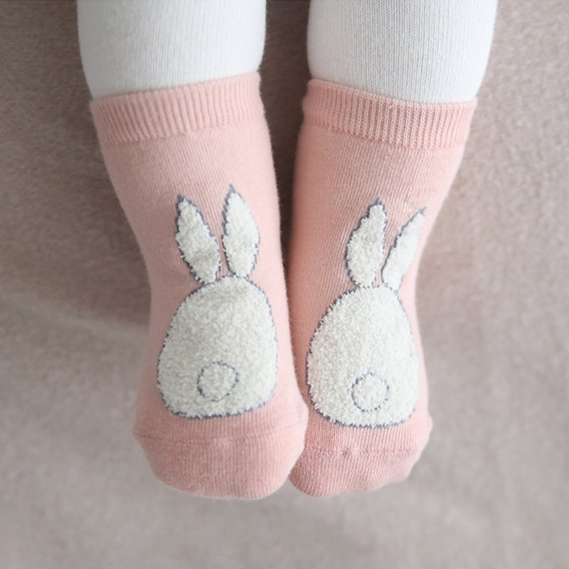 Infant Baby Cute Girls Boys Anti-slip Short Socks Cartoon Rabbit Rat Bear