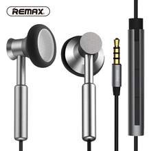 Buy REMAX Clear Metal In-ear Earphones with HD Mic Noise isolating Heavy Bass Earbuds Braided Cable Flat for phone/huawei/xiaomi