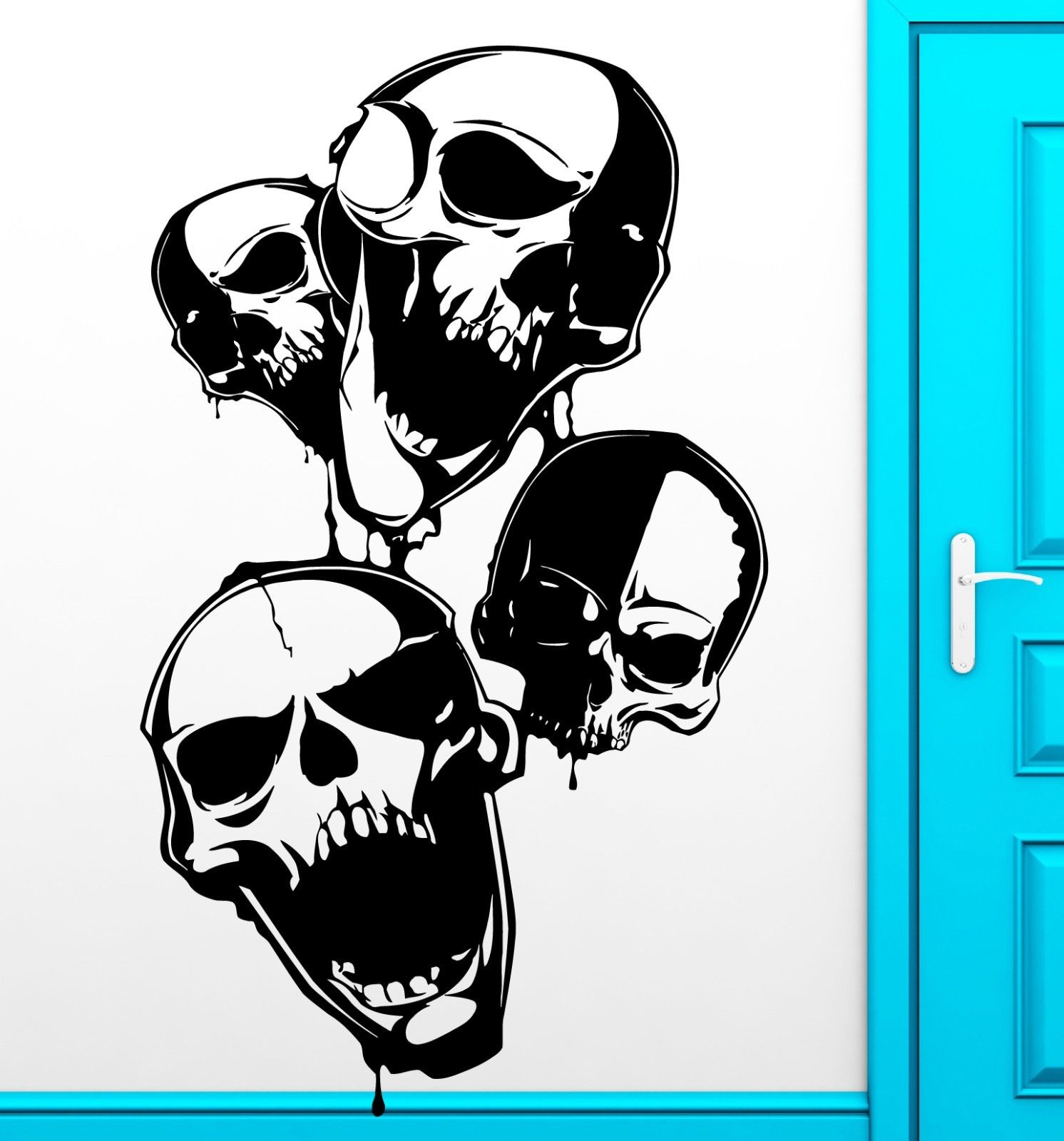 2016 new Wall Sticker Vinyl Decal Skull Scary Anarchy Freedom Cool Decor free shipping