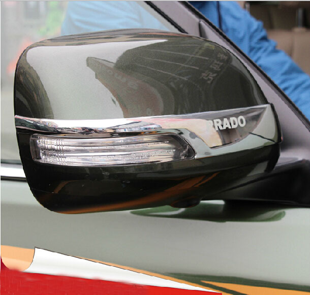 "With ""Prado"" Logo Rear-view Side Mirror Cover Trims For Toyota Land Cruiser Prado FJ 150  2010-2014"