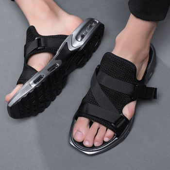 Men Summer Sandals Air Cushion Men slippers comfortable slip on Outdoor Beach Shoes casual sandals zapatillas hombre size 38-44 mvp boy men s summer beach sandals pu leather comfortable slip on casual sandals fashion men slippers zapatillas hombre 38 44