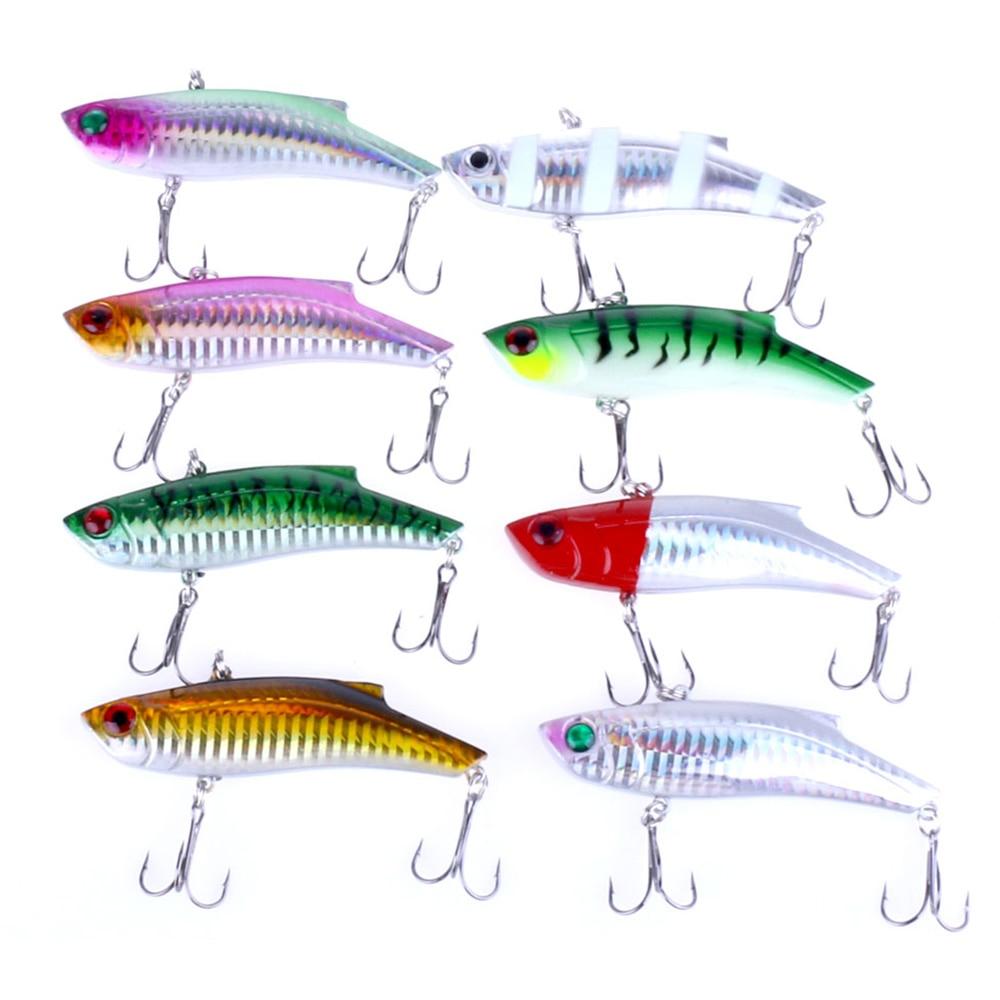 8pcs//Lot Pencil VIB Fishing Lures Bass Crank Baits Fishing Bait Tackle 9cm//9.6g