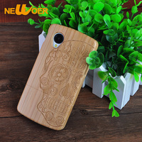 Handmade Real Wooden Hard Back Bamboo Case For LG Google Nexus 5 G2 G3 Cover Coque