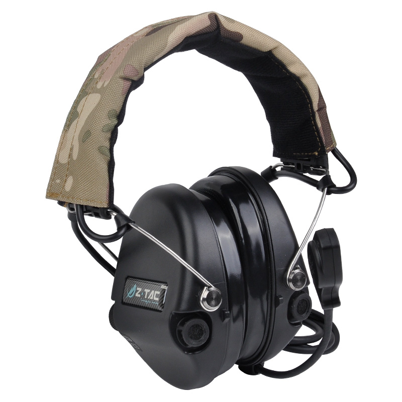 Hunting Headset Tactical Headphone Airsoft Camouflage Military Standard Headset Noise Canceling Aviation Walkie Talkie Helmet
