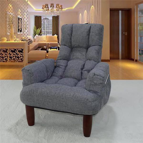 Upholstery Furniture Legs Wood Fabric Sofa Armchair Design Living Room Japanese Style Foldable Modern Relax Accent