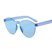 Summer Round Sunglasses Women Brand Designer Transparent Sha
