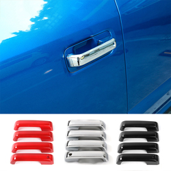 MOPAI 4 Door ABS Exterior Door Handle Decoration Cover Stickers For Ford F150 2014 2015 2016 2017 Car Styling