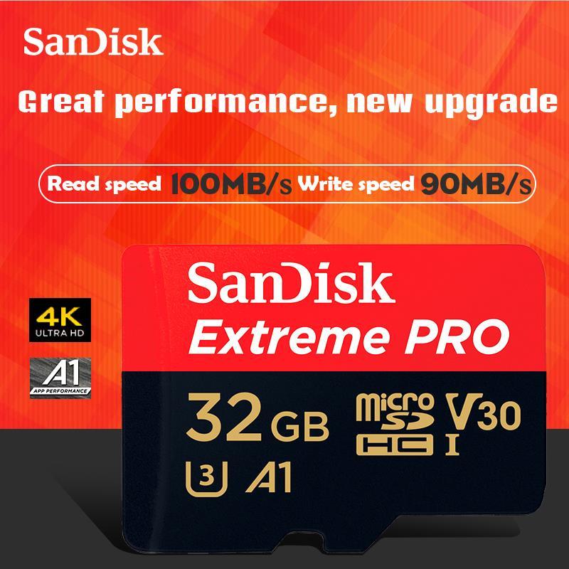 SanDisk D'origine 32 GB Carte Mémoire Pro microSDHC/microSDXC Nouvelle mise à niveau Carte microSD TF Carte 100 MB/s Class10 U3 A1 V30