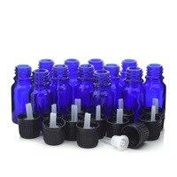 12pcs 1 3 Oz 10ml Cobalt Blue Glass Bottles W Euro Dropper Orifice Reducer Tamper Evident