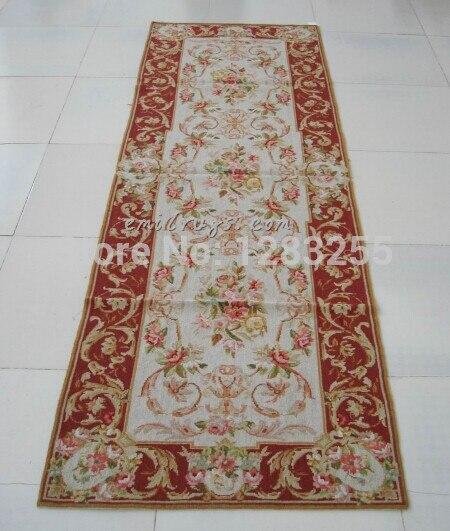 Tapis en laine tissée à la main avec Point d'aiguille Design Antique chinois fait à la main en laine canapé couverture Art tapis laine de mouton naturelle