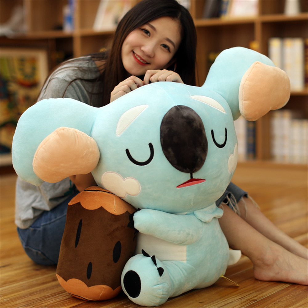 Fancytrader 60cm Giant Soft Cute Cartoon Koala Plush Toy 24'' Big Simulation Animal Blue Koala Doll Baby Present super cute big eyes garfield cat with hat plush toy soft doll anime toy baby kids sleep appease korea doll simulation cat animal