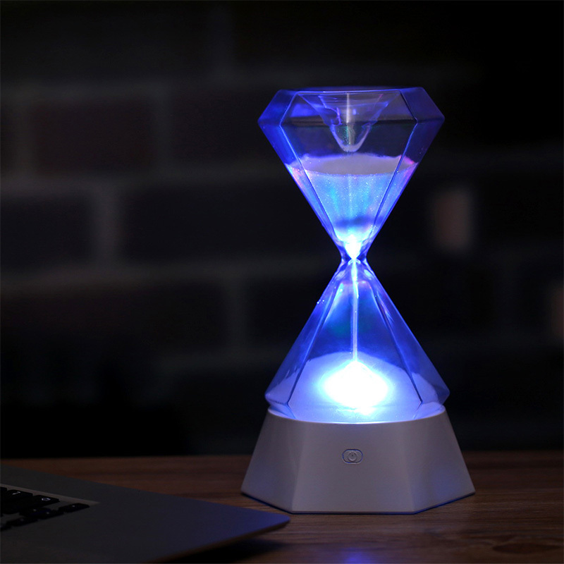Colored Light Night Lamp Dimming RGB Hourglass Sandy Clock Hourglass 15 Minutes Night Light Diamond USB Rechargeable LED Light free shipping 5pcs lot 2sk3523 k3523 to3p offen use laptop p 100% new original page 1