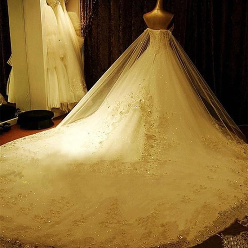 QQ Lover 2019 New Tube Top Crystal Luxury Wedding Dress Bridal Gown Wedding Dresses 2019 Vestido De Noiva Robe De Mariage