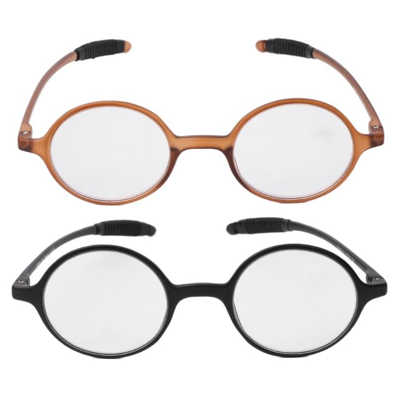 Aoron Lightweight TR90 Round Reading Glasses Resin Presbyopia Eyeglasses +1.0~+4.0
