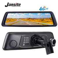 Jansite 10 Полный сенсорный ips Автомобильный dvr 4 г Android зеркало gps FHD 1080 P двойной объектив автомобиля dvr зеркало заднего вида для авто камера ADAS BT wi