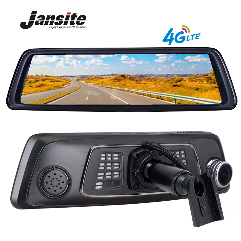 Jansite 10Full Touch IPS car dvr 4G Android Mirror GPS FHD 1080P Dual lens Car DVR vehicle rearview mirror camera ADAS BT WIFI