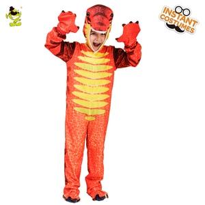 Image 3 - Kids Dinosaur Triceratops/Tyrannosaurus/Stegosaurus Costume Cosplay Mascot Animal Clothes Role Play for Halloween Party