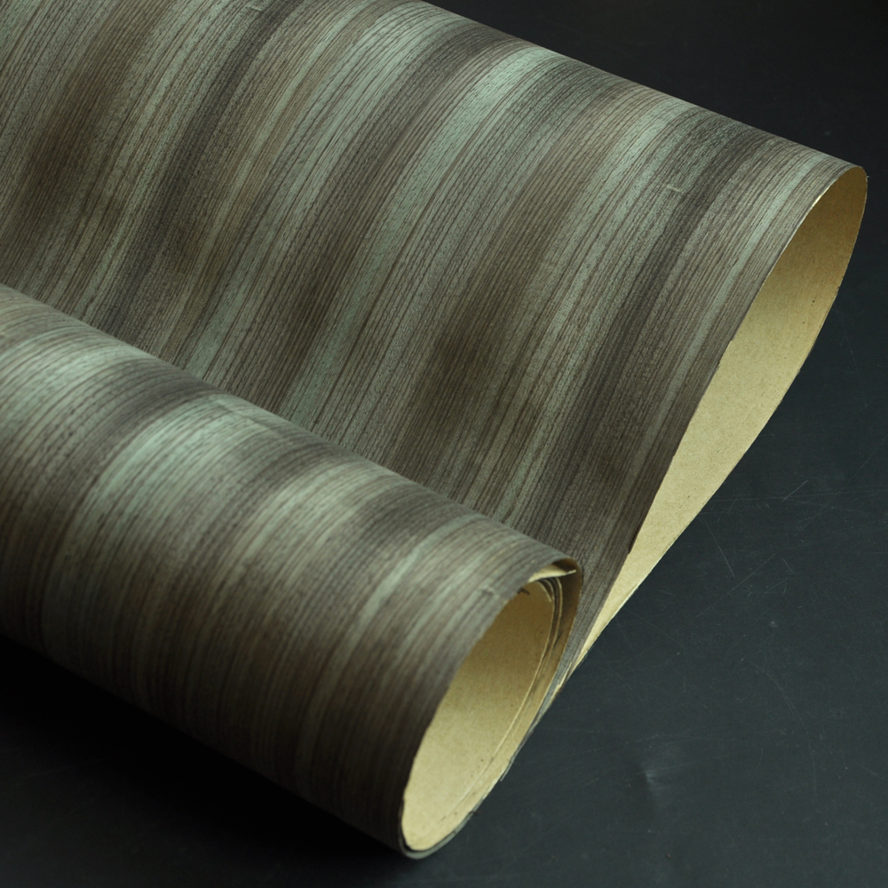 Dyed Natural Zebrano Wood Veneer With Craft  Backer