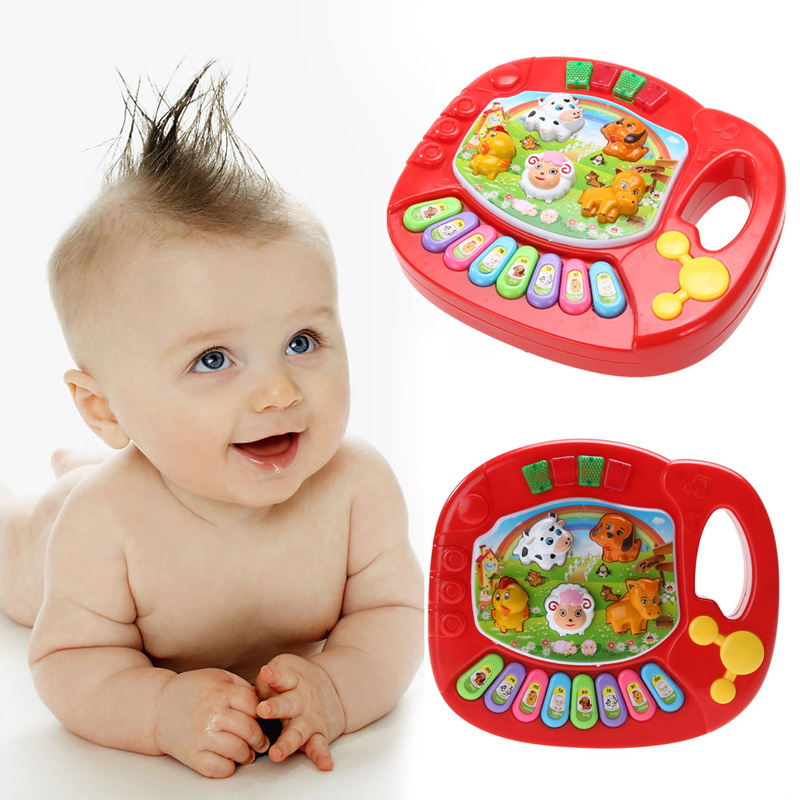 Baby Music Instrument Toy For Children Education Animal Farm Educational Piano Toy Developmental Baby Chrismas& Birthday Gift