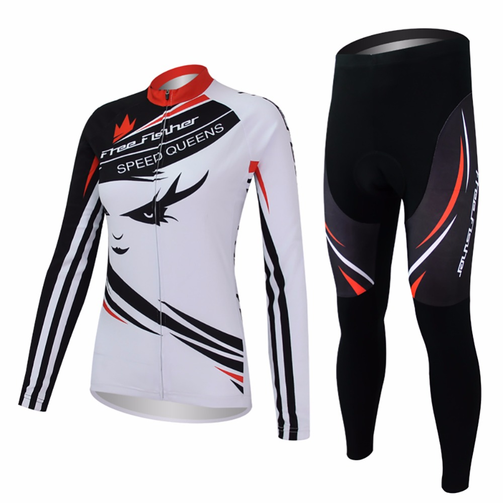 Amur Leopard Cycling Sportswear Women Bicycle Jersey Set Long sleeve Quick Dry Riding Clothing UV resistant