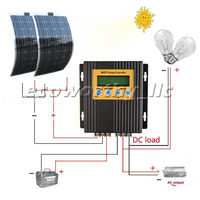 2*100W Mono Flexible Solar Panel Kit W/ 20A MPPT Controller for 12V Off Grid