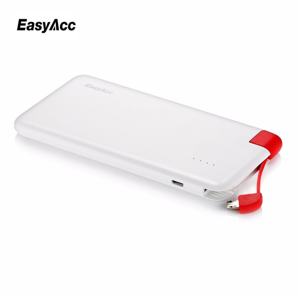 easyacc 18650 power bank 4000mah ultra slim built in micro usb portable external battery charger. Black Bedroom Furniture Sets. Home Design Ideas