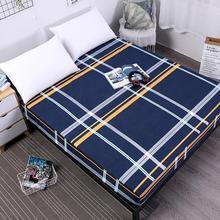 Лондонский Полосатый Стиль Противоскользящий 360 резиновый ленточный комплект простыней полиэстер Защитный матрас покрывало для кровати