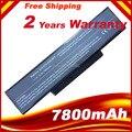9 células 7800 mah bateria do portátil para asus k73 k73e k73j k73s k73sv N73 N71 N71J N71V N73F N73G N73J N73S N73V X77 X77J X77V