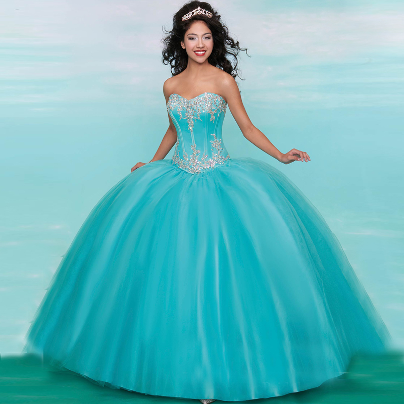 fe07138be1 Vintage Vestidos De 15 Anos Ball Gown Custom Made Appliques Crystal Beading  Tulle Quinceanera Dresses 2017 Cheap