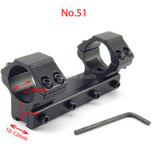 Free Shipping Hot 11mm Aluminum Integral Air Rifle Scope Mounts 25.4mm Diameter Weaver Rail Mount Ring Hunting Accessories