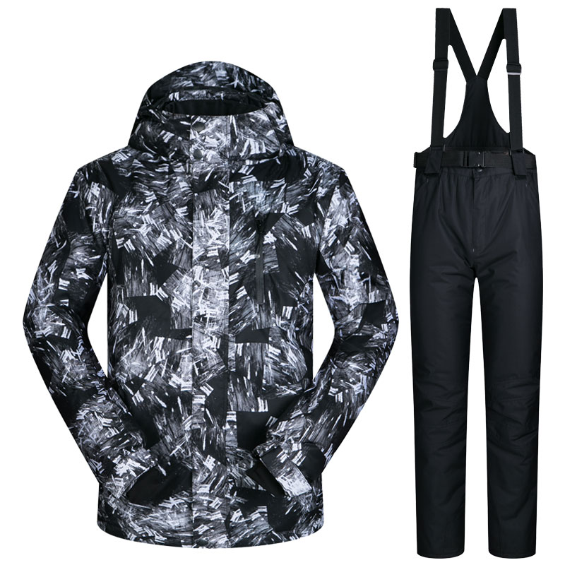 2017 New Winter Ski Suit Men Outdoor Thermal Waterproof Windproof Snowboard Jackets And Pants Climbing Snow