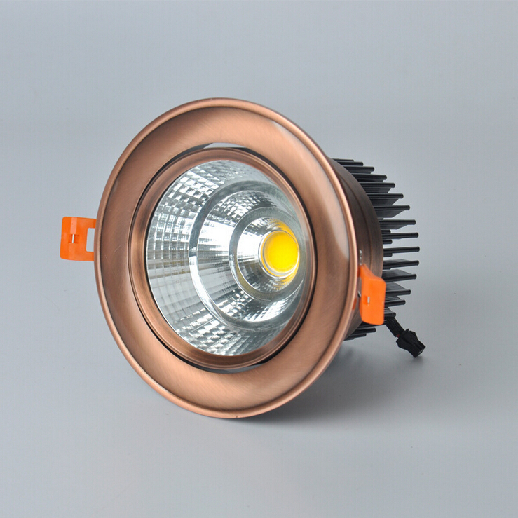 Free Shippipng 10W/15W/20W High quality COB Led Ceiling Down lihgt Warm Cold White Led Recesse Down lamp AC85-265V