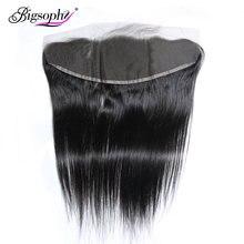 Волосы bigsophy перуанские прямые волнистые 13*4 человеческие