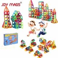 Alegria mags designer magnético 90/110/158 pçs blocos de construção diy 3d diy brinquedos educativos para o presente