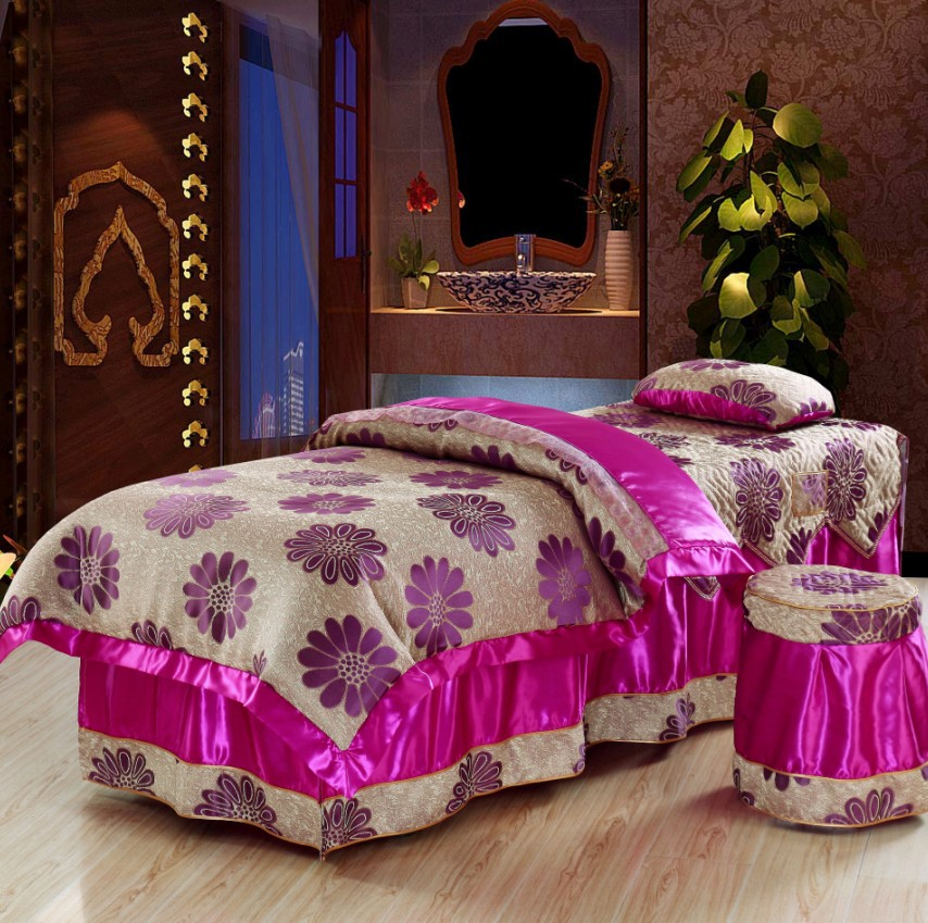 Exceptional Printing Beauty Bedspread Four Pieces Cotton Bedding Set Customized Massage Bed  Sheet 90*170CM Bed Set Fumigation A Bedspread In Bedding Sets From Home ...