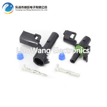 цена на 5 Set 1 Pin DJ3011-2.5-11/21 Female Male Weather Pack Electrical Wire 2.5 Connector Plug Sealed Wiring Automobile Connectors