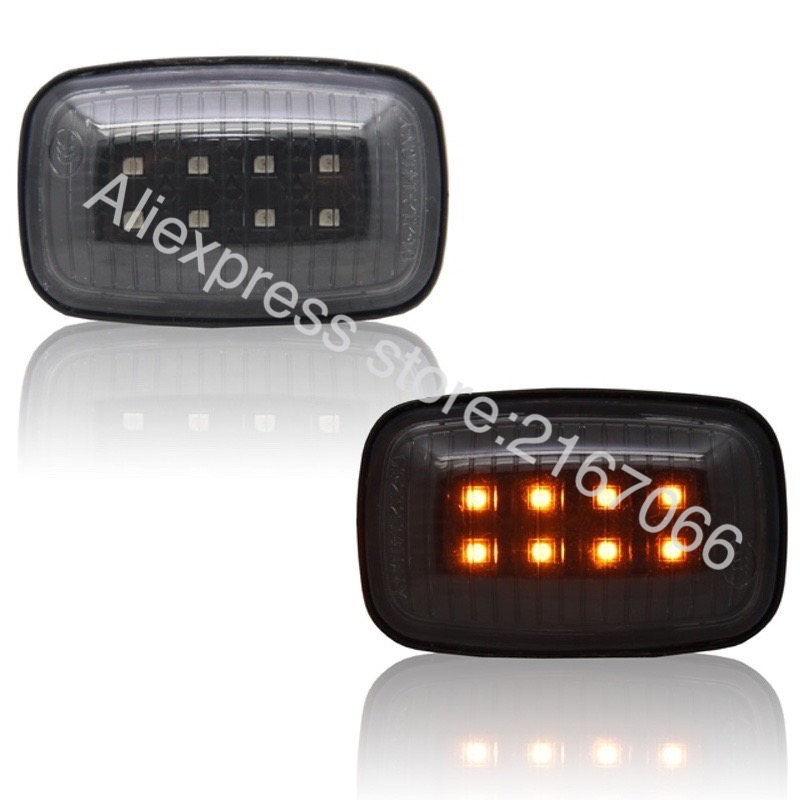 Side Marker LED fits Toyota Land Cruiser 100 1998 1999 2000 2001 2002 2003 2004 Indicator Turn Signal Light LEFT + RIGHT PAIR