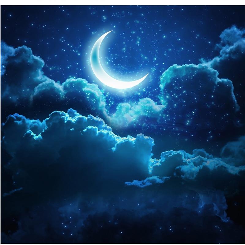 Beibehang Disesuaikan Besar Wallpaper 3d Gaya Lukisan Langit Malam