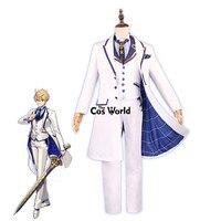 FGO Fate Grande Ordine Arthur Pendragon san Valentino Bianco Camicia Cappotto Della Maglia Dei Pantaloni Uniforme Outfit Costumi Anime Cosplay
