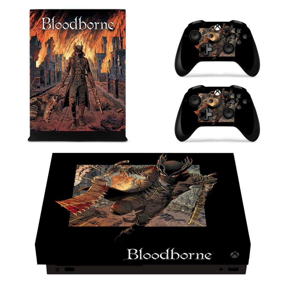 Hot Game Bloodborne Stickers Skins For Xbox One X Console & Controller Gamepad Accessory Cover Vinyl Skin Decals