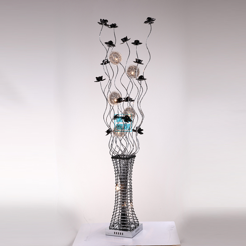 Popular aluminum flower vase buy cheap aluminum flower vase lots from china aluminum flower vase for Lampadaire salon
