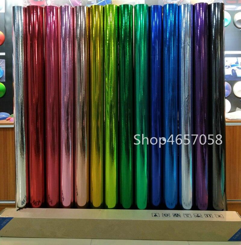 1.52x18m Wholesale PVC Material Air Bubble Free Chrome Mirror Car Wrap Vinyl Foil