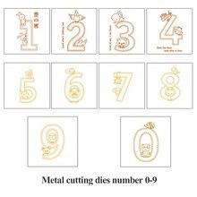 Naifumodo 10pcs 0-9 Number Dies Animals Digit Metal Cutting Dies Figure New Dies for 2019 Craft Die Scrapbooking Stencil Die Cut 10pcs 3461ag 4 digit 0 36